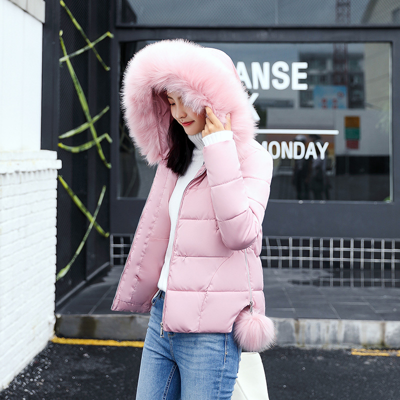 2017 Winter Jacket women Womens Parkas Thicken Outerwear solid hooded  Short Female Slim Coats winter jacket women plus size womens parkas thicken outerwear solid hooded coats short female slim cotton padded basic tops