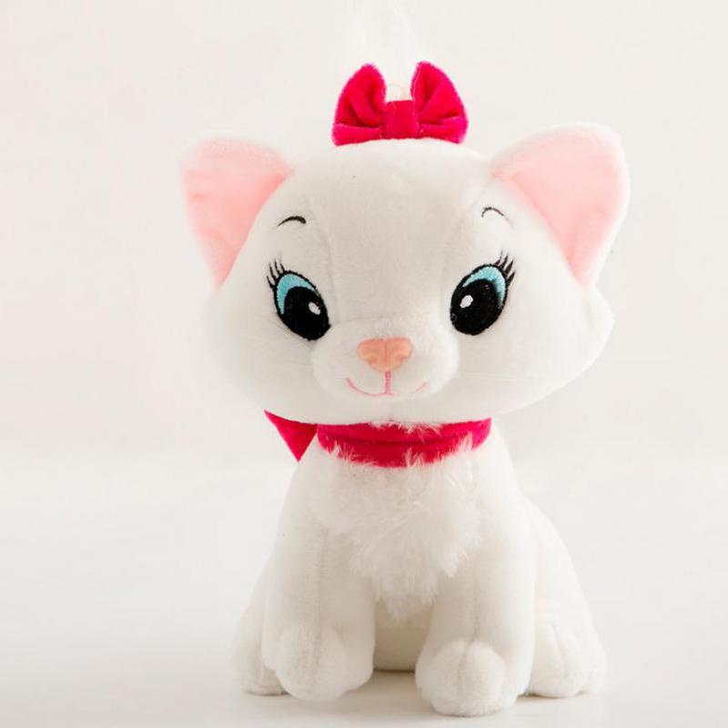 The Aristocat 20cm/30cm Marie Cat Anime Toys Soft Stuffed Plush Animal Toy For Girls Kids Lover Children Gift Baby Plush Toys