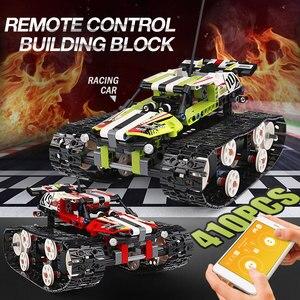 Image 4 - 金型王テクニックrcクローラレーシングカーリモートコントロール車のモデルのビルディングセット子供たちのおもちゃクリスマスギフト組み立てるレンガ