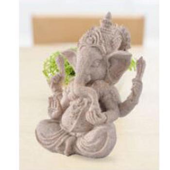 MagiDeal, Piedra Arenisca Tallada A Mano, Estatua De Buda De Ganesh Deity, Elefante Hindú, Decoración, Fantástico, Buen Estado Para Colección