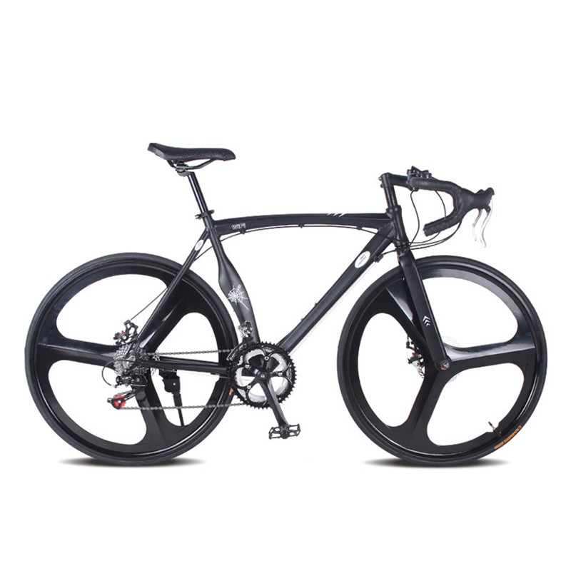 Aluminum Road Bike Fixed Gear Bike 52cm DIY Frame Muscular Frame Complete 14 Speed Road Bike Aluminum Alloy FrameType