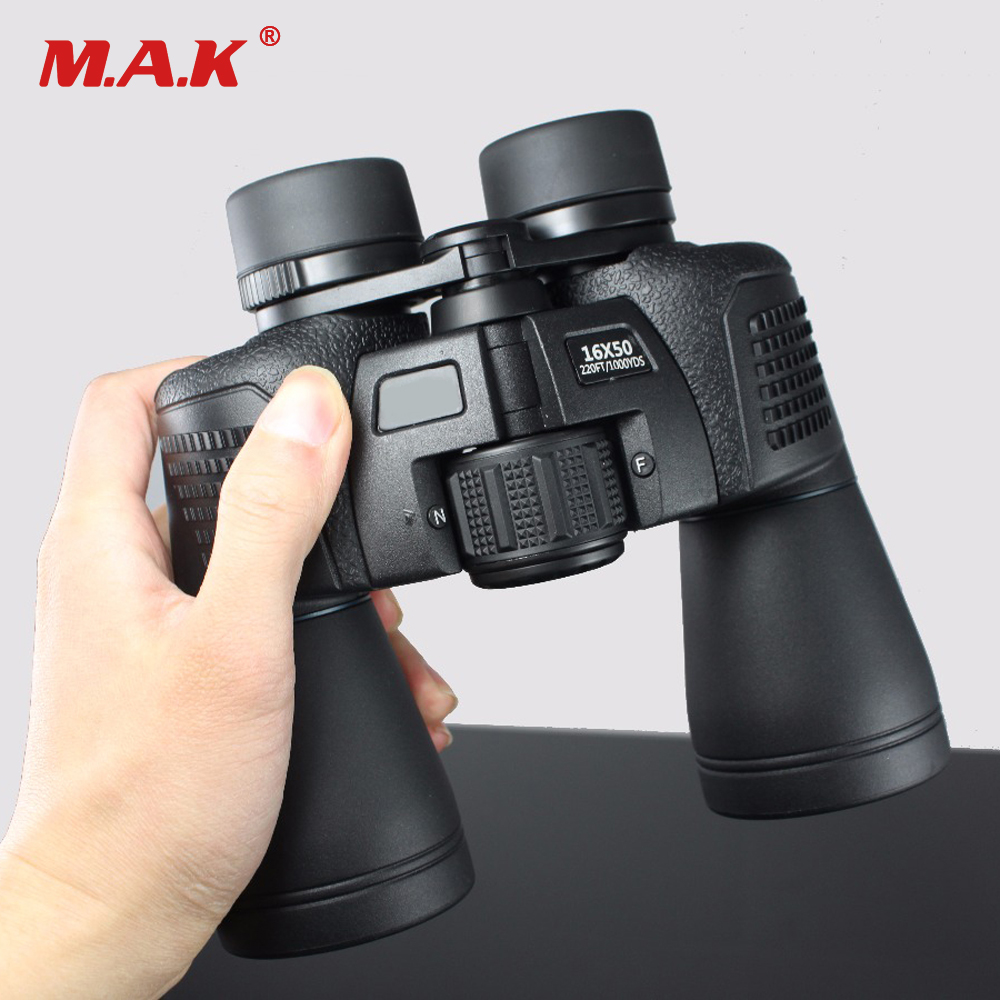 16x50 Waterproof Telescope HD Binocular Green Film Non-infrared Night Vision Optical Binoculars for Camping/Hunting vda fairy telescope hd mini waterproof glasses binoculars infrared night vision 1000 wyj