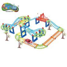 78/103/169 stks / set Magic Track Plastic Educatief Milieu Assemblage DIY Speelgoed Flexibele Racing Track Met Voertuig Diecasts Speelgoed