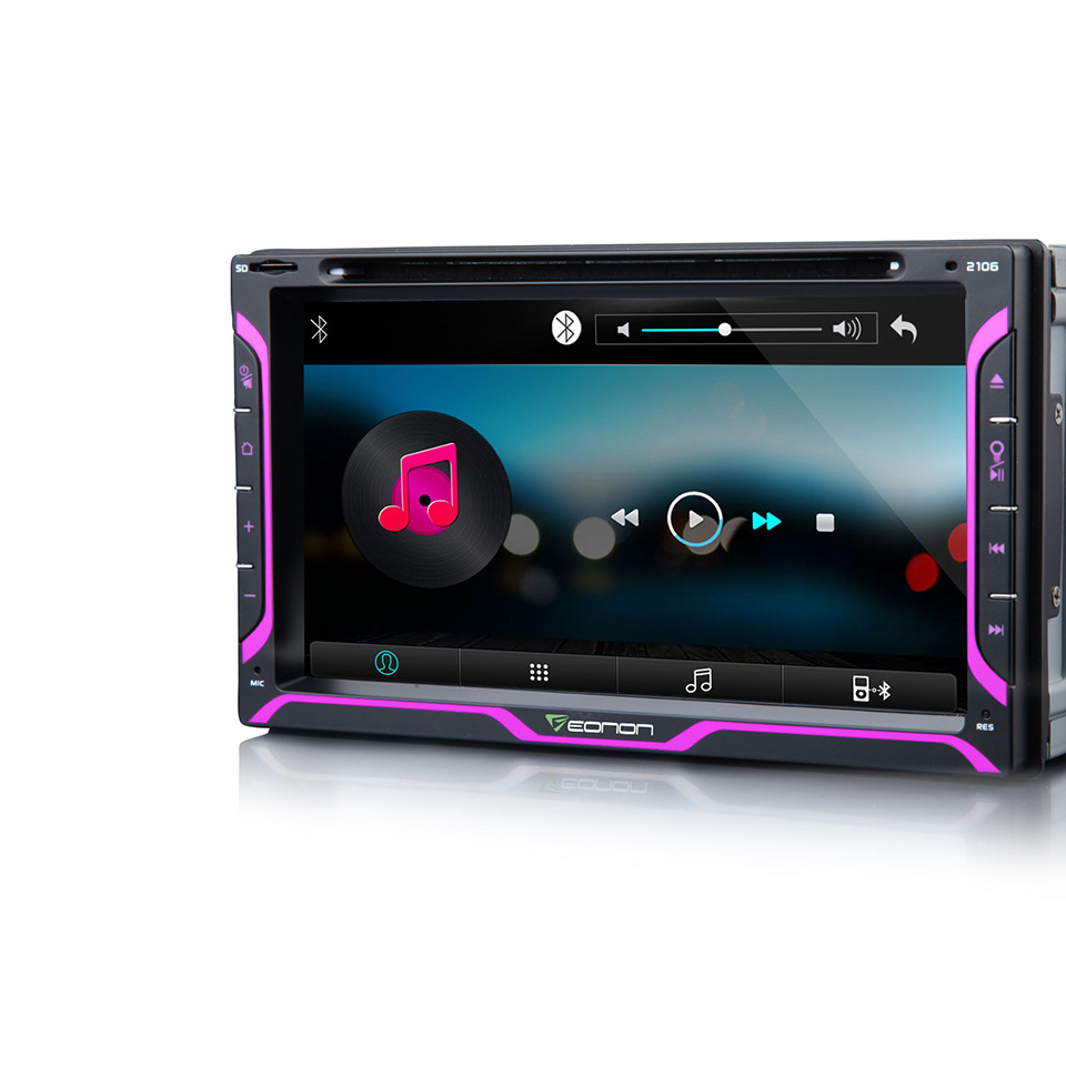 Eonon Two DIN Car DVD Player Touch Screen Auto Radio LED - Cool car radios