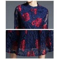 Vestido de encaje floral manga larga vintage 4