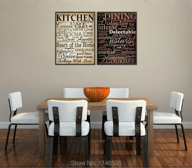 Vintage Poster Maison Mural Home Decor Lettres Photo Pour Cuisine Salle A Manger Chambre Wall