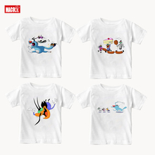 New Short Sleeve Cotton Summer T-shirt Boy Oggy and The Cockroaches White Boys Girls Sleeved T Shirts