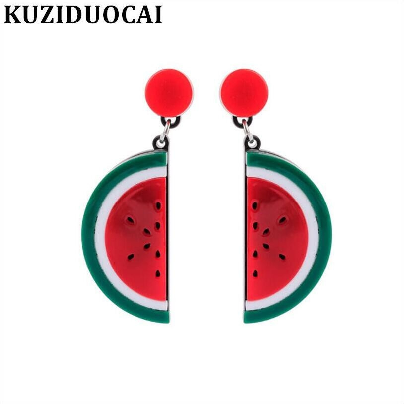 Kuziduocai New Fashion Jewelry Acrylic Sheet Watermelon Frui