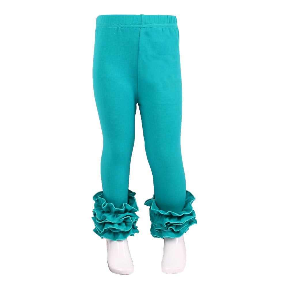 ab3db0818fbba ... MUDBALA Boutique Toddler Girls Triple Ruffle Icing Leggings Baby Girl  Clothing Bottom Solid Cotton Ruffled Pants ...