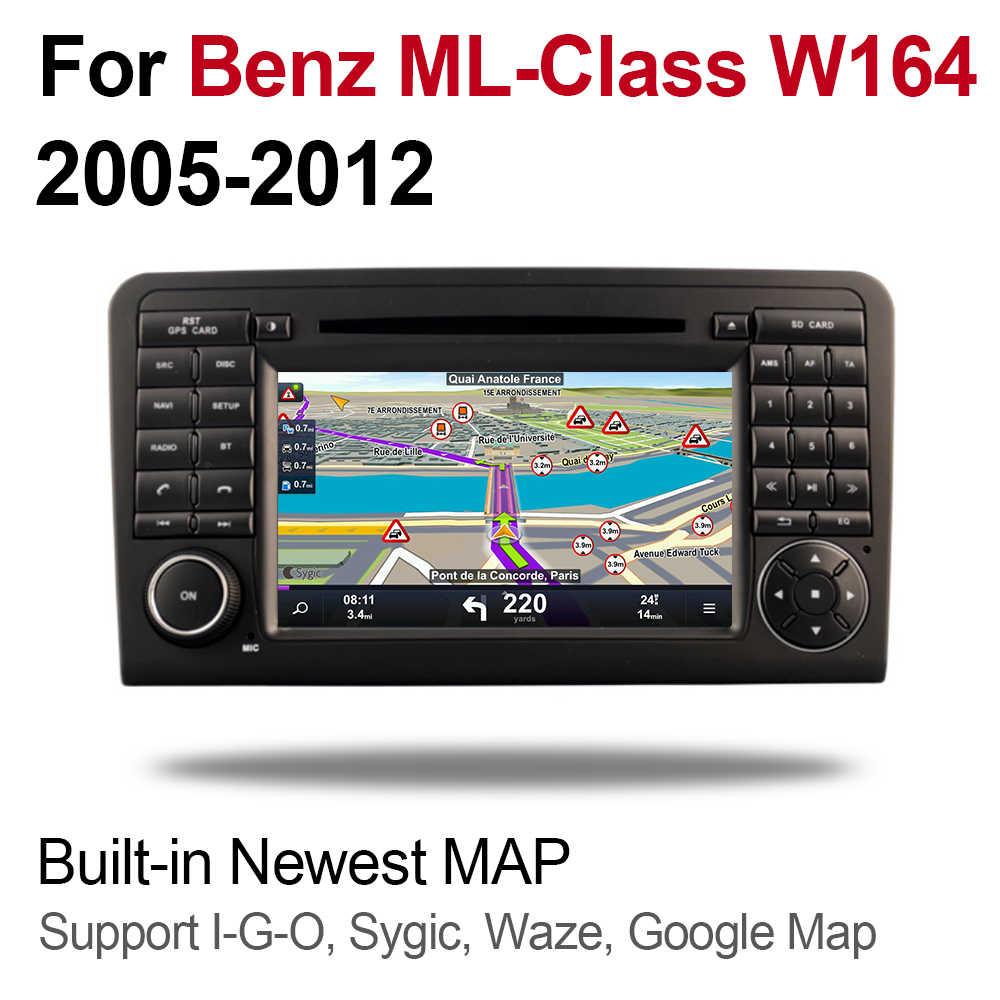 4 ギガバイトの android 9.0 dvd プレーヤーベンツ ML320 ML350 W164 2005 〜 2012 NTG マルチメディア GPS ナビゲーション地図ラジオ Bluetooth