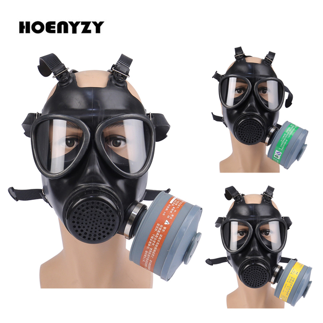 New Arrival Anti Gas Mask Painting Spray 87 Military Soviet Army Chemcial Silicone Respirator Fire Exercise CS Full face Mask