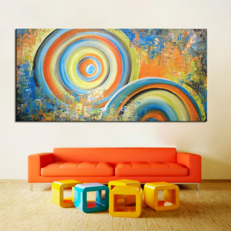 100 Hand Painted Modern Abstract Oil Paintings Acrylic Canvas Art For Living Room Wall