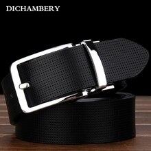 [DICHAMBERY] Mode Dornschließe Aus Echtem Leder Männer Gürtel Luxus Für Männer Luxus Marke Mode Ledergürtel D0012