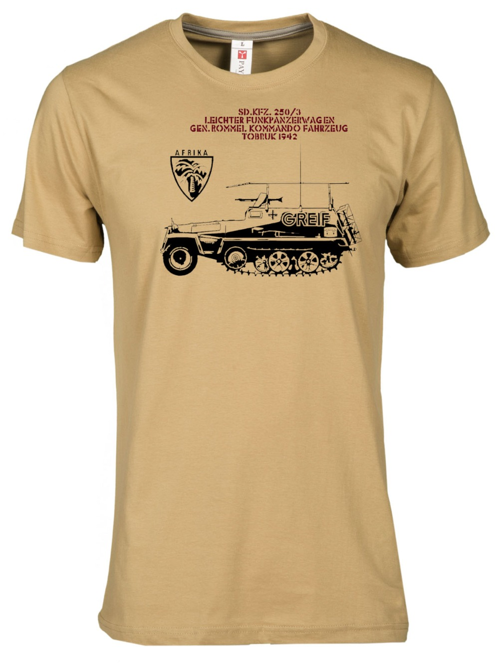 Afrika Korps World War 2 Afrika Tobruk 2019 Mens Brand Designs Slim Fit O-Neck Movie Printing T-Shirt