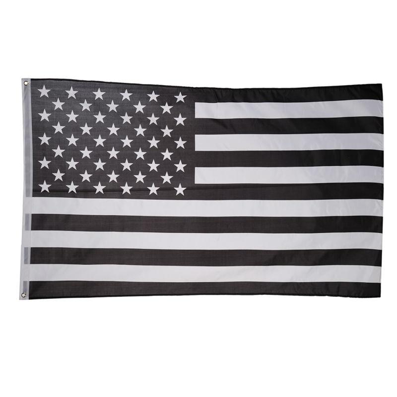 Venta grande! Bandera Americana delgada negro Línea Blanca línea ee ...