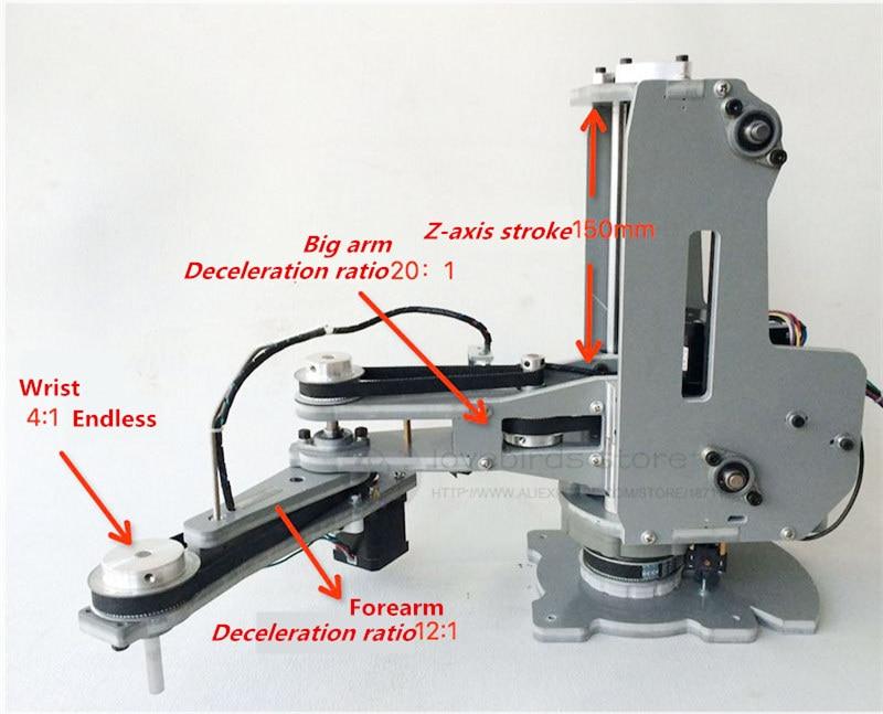 CNC manipulator lengan robot Harmonic reducer Stepper motor 4 DOF - Tokoh mainan - Foto 2