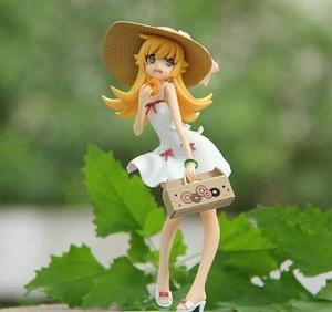 1 piece 17cm Retail Anime Monogatari Bakemonogatari Oshino Shinobu Painted PVC Action Figure Collection Model Toy Free Shipping(China)