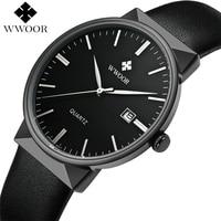 Brand Luxury Men Waterproof Sport Watches Men S Quartz Black Clock Male Leather Strap Casual Wrist