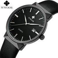 Brand Luxury Men Waterproof Sport Watches Men S Quartz Black Clock Male Leather Strap Casual Wrist