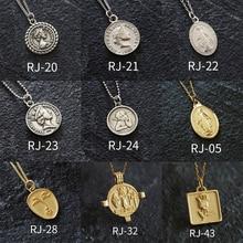 925 Silver Coin Necklace Choker Kolye Gold Pendant Charm Minimalism Jewelry Vintage Boho Bijoux Femme Collier Women
