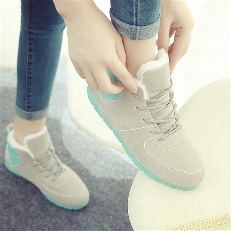 Shoes Woman boots Outdoor Winter Snow boots velvet casual Flat shoes superstar Suede zapatillas deportivas mujer tenis feminino shoes men leather 2017 ms casual shoes low help white black flat leisure fashion female superstar shoes tenis feminino mujer