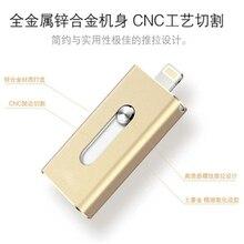 Hot 3 in1 otg Usb Flash Drive 64gb Stick 32gb Pen 16gb 8gb External Storage For iPhone 5/5s/5c/6/6s/7 Plus