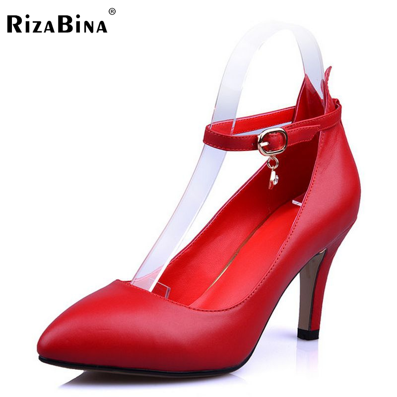 women real genuine leather stiletto classic high heel shoes sexy fashion brand pumps ladies heels shoes size 34-39 R5603 цены онлайн