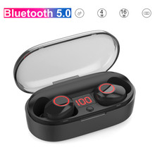 JQAIQ 4D Surround Bluetooth Earphones 5.0 Tws Mini Wireless Headset Ipx5 Waterproof Heavy Bass Earbuds With Charging Box