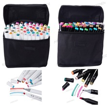 TOUCHNEW 60 Colors Sketch Markers Pen Alcohol Based Pen Marker Set Best For Drawing Manga Design