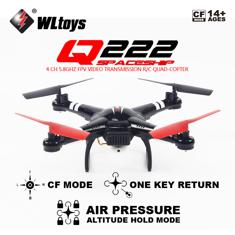 Free shipping Wltoys Q222G  FPV 720P Camera Air Pressure Hovering Set High RC Quadcopter RTFFree shipping Wltoys Q222G  FPV 720P Camera Air Pressure Hovering Set High RC Quadcopter RTF