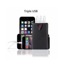 20000mAh Mobile Power Bank  3USB output powerbank portable charger external Battery 20000 mAH mobile phone charger Backup powers