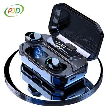 TWS G02 Bluetooth Earphones V5.0 Wireless Earphone 9D Stereo Music IPX7 Waterproof Earbuds for xiaomi iphone Drop Shipping