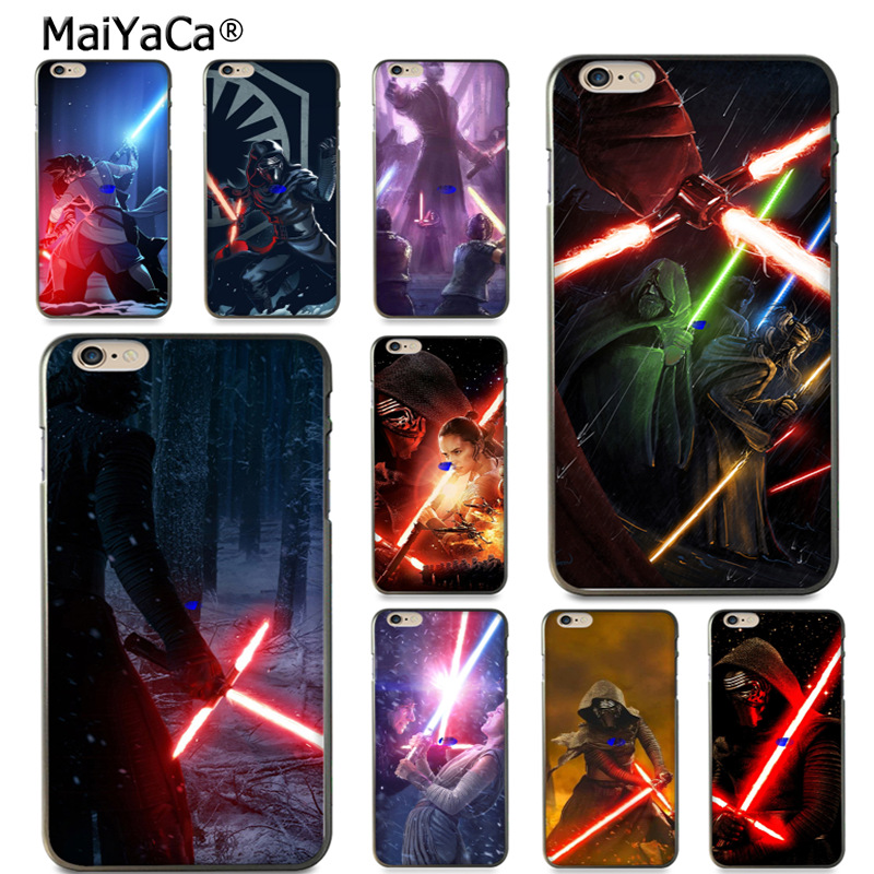 MaiYaCa REY KYLO REN LIGHTSABER FIGHT On Sale! Luxury Cool phone Case for iPhone 8 7 6 6S Plus X 10 5 5S SE 5C case Coque