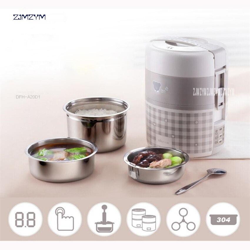 DFH-A20D1 1L Mini cuiseur à riz cuiseur à riz électrique cuiseur à riz automatique avec motif mignon pour soupe de riz bouillie oeuf cuit à la vapeur 270 W