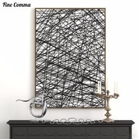 Abstract Line Giclee Printed Poster Wall Art Decoration Canvas Painting Pictures Home Decor For Living Room
