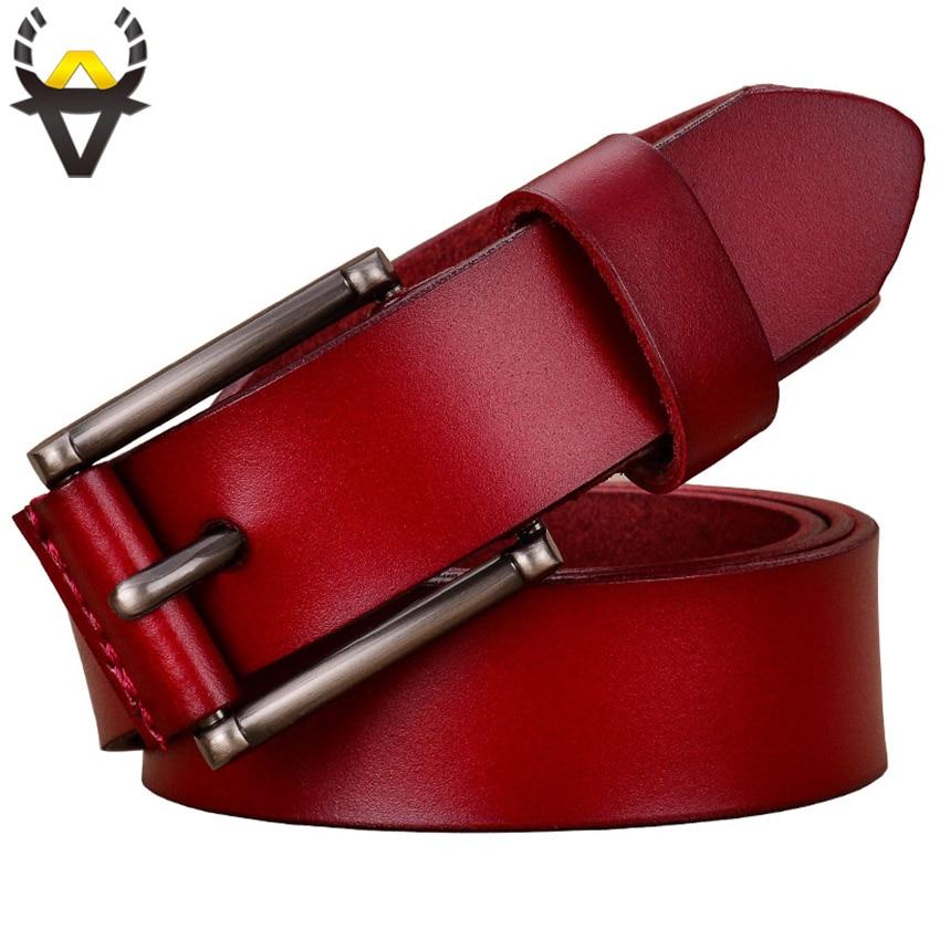 2017 Marque De Mode Tout-Allumette Véritable ceintures en cuir pour femmes Top qualité boucle Ardillon femme ceinture pour jeans occasionnels sangle En Peau de Vache