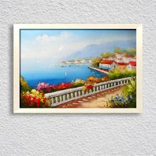 цены на Paintings For Living Room Wall Mediterranean Seascape Decorative Pictures Canvas Art Hand Painted Unframed Oil Paintings