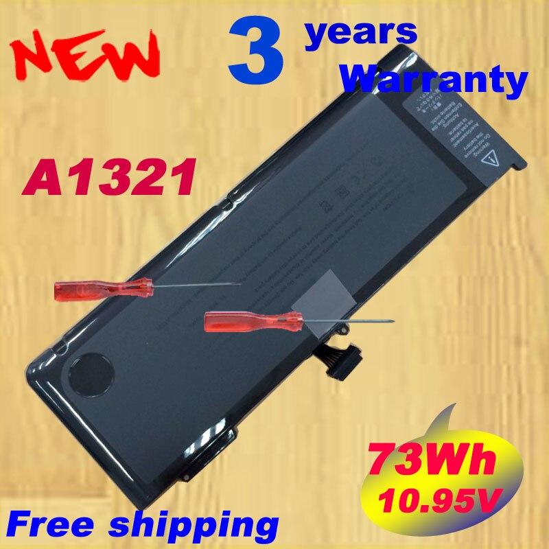 Livraison gratuite, Nouvelle Batterie D'ordinateur Portable Pour MacBook 15 A1286 MB986LL/UN MB985, Remplacer: A1321 batterie
