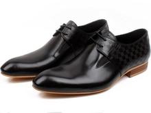 Мода черный оксфорд обувь мужская бизнес обувь из натуральной кожи платье обувь мужская формальные свадебная обувь бесплатная доставка