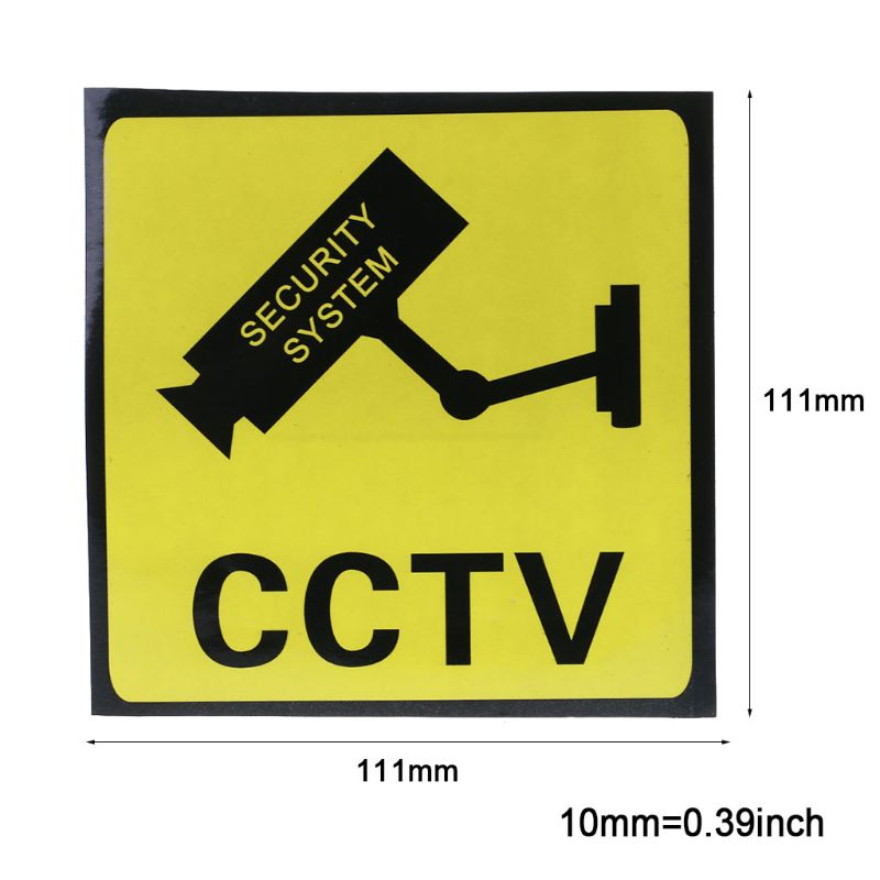 10PCS Warning Stickers CCTV SECURITY SYSTEM Self-adhensive Safety Label Signs Decal 111mm Waterproof F42D Wholesale Dropshipping