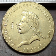 1822 + R Brazil  Copy Gold plated Coin