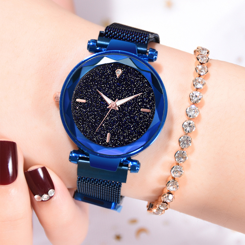 Women Watches Minimalism Starry sky Magnet Buckle Fashion Casual Female Luxury Rose Gold watch Waterproof Roman Numeral Rel