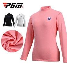 Women T-Shirts Apparel Pgm Sport Velvet Long-Sleeve Warm D1098 Outdoor Autumn Winter