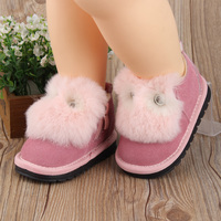 2017 Winter Cute Baby Girls Snow Boots Infant Warm Plush Boots Toddler Princess Boots Shoes Insole