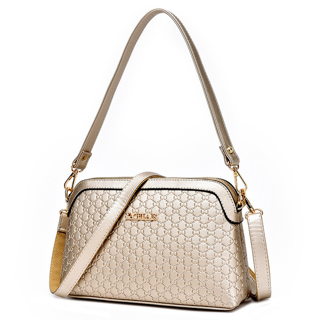 2017 New Arrival  Fashion Women Leather Handbags Clutch PU Leather Satchel Casual Corssbody Bags Purse and Handbags Gold yy94438