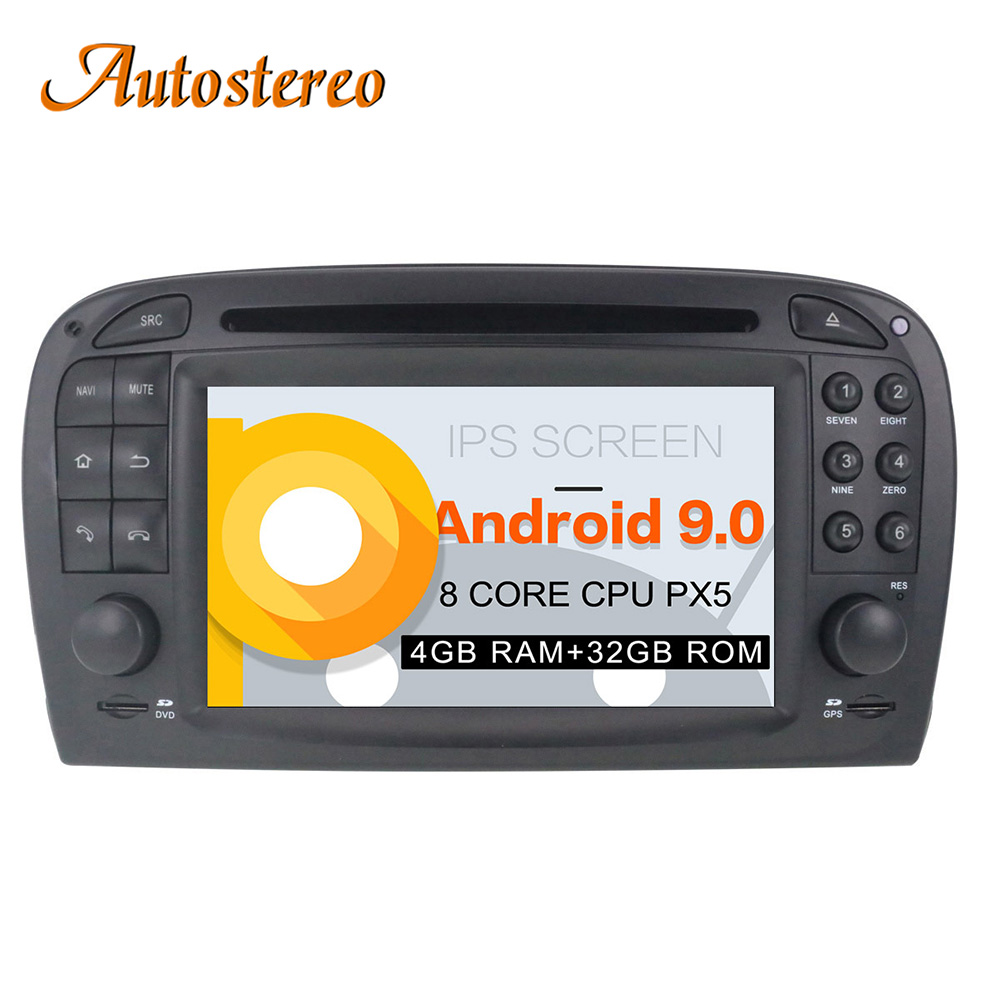 Android 9 Car GPS Navigation Car radio DVD player Headunit For Mercedes Benz SL R230 SL500
