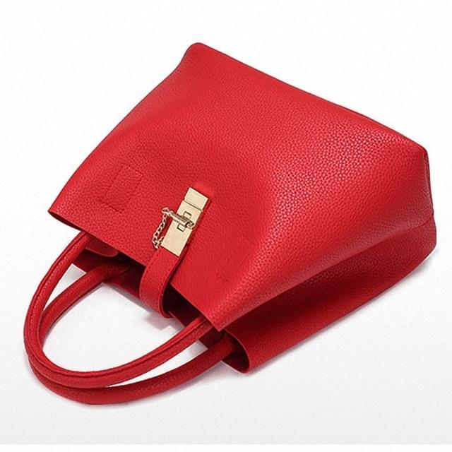 Women's Handbags Fashion Shoulder Bags Ladies Totes Simple Women PU Tote Bag 4
