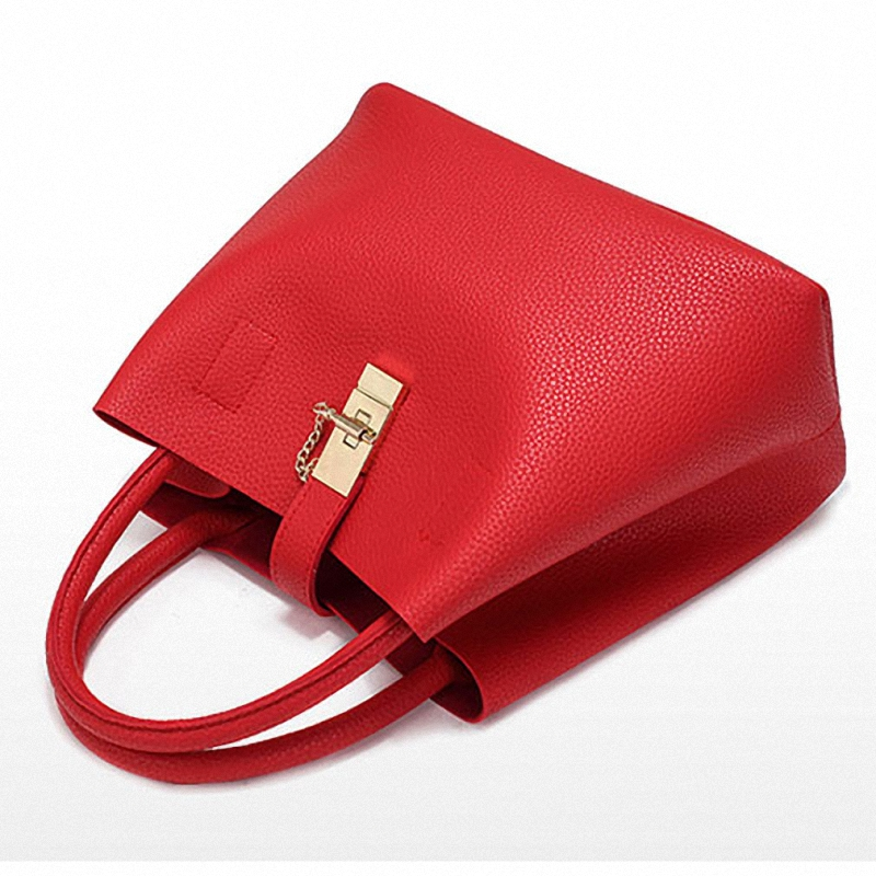 Image 5 - DAUNAVIA  2019 Vintage Women's Handbags Famous Fashion Brand Candy Shoulder Bags Ladies Totes Simple Trapeze Women Messenger Bag-in Shoulder Bags from Luggage & Bags