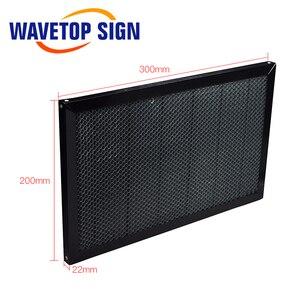 Image 2 - WaveTopSign 300*200mm 350*250mm Laser nid dabeille Table de travail plate forme Laser pièces pour CO2 Laser graveur découpeuse
