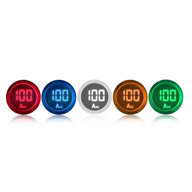 Faixa de Medição do Medidor de Luz Sinal de Display Poder Digital Amperímetro Atual Ampere 0-100a 220v ac 22mm